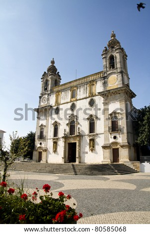 View of the church of Carmo located on Faro, Portugal.