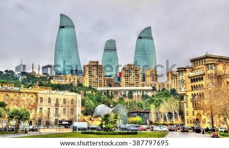 View of the city centre of Baku - Azerbaijan Сток-фото ©
