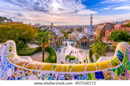 Photo of  View of the city from Park Guell in Barcelona