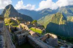 View of the city of Machu Picchu Peru