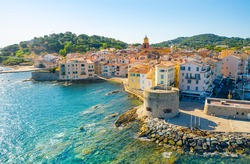 View of the city of Saint-Tropez, Provence, Cote d'Azur, a popular destination for travel in Europe