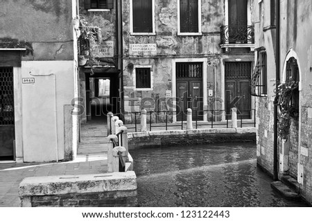 View of the city of Venice (Venezia) in Italy #123122443