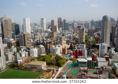 View of the city, Tokyo, Japan