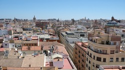 View of the city Valencia from the Quart Towers (XV century), Spain