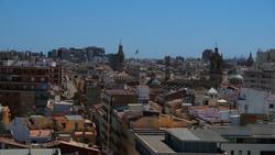View of the city Valencia from Torres de Quart (XV century), Spain