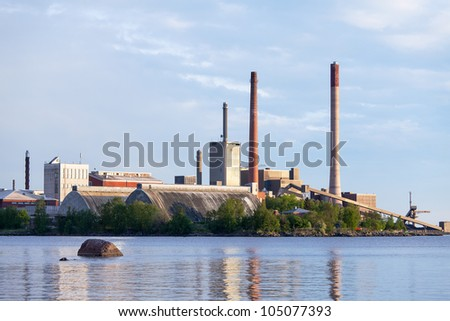 View of the Closing of Factories and Smokestacks