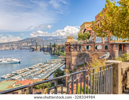 View of the coast of Sorrento. Italy.