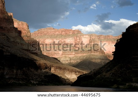 View of the Colorado River through the Grand Canyon