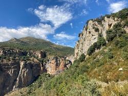 View of the Congosto de Ventamillo Gorge hiking trail. Ribagorza, Huesca, Aragon, Spain