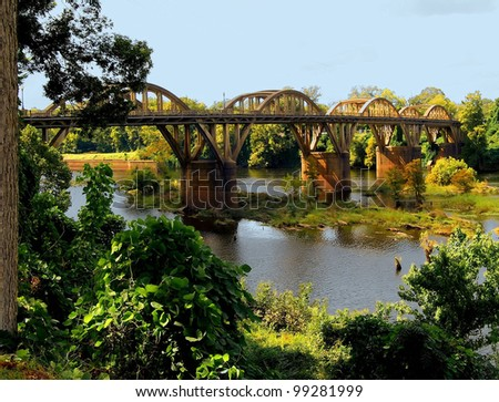 View of the Coosa River in Alabama / Bridge Over the Coosa