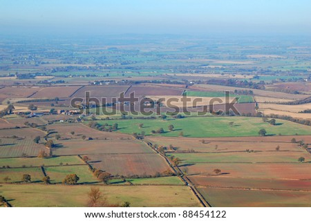 view of the countryside of Shropshire, England