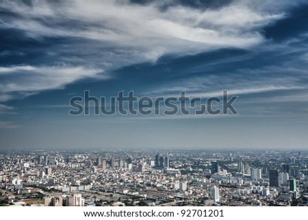 view of the daily Bangkok from a height