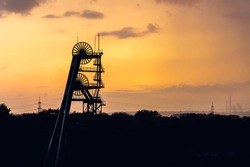 View of the disused coal mine Ewald in the Ruhr area in Germany