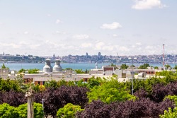 View of the European side coastline from Moda, Kadikoy, the Asian coastline of Istanbul