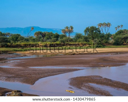 View of the Ewaso Ngiro River in the savannah Stok fotoğraf ©