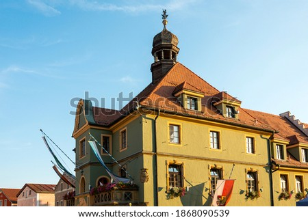 View of the facade of the historic Old Town Hall, Furth im Wald, Germany. Stock foto ©