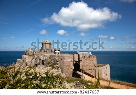 View of the Fort La Latte in Brittany France