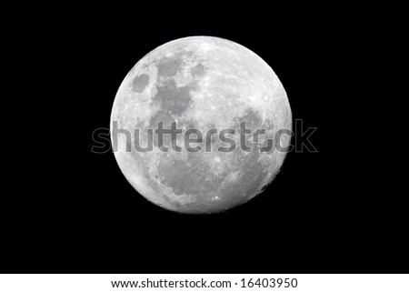 View of the full moon over the African continent