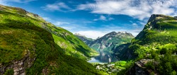 View of the Geirangerfjord in Norway