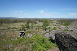 View of the Gettysburg Battlefield from Little Round Top.