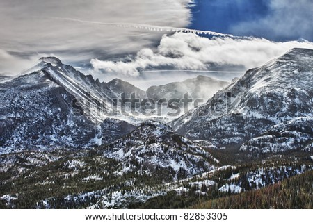 View of the Glacier Gorge in the Rocky Mountains National Park, Colorado