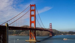 View of the Golden Gate. San Francisco, USA.