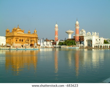 view of the golden temple, amritsar, india