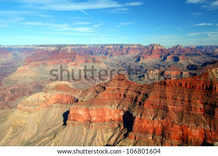 View of the Grand Canyon from the Mather Point in Arizona, USA