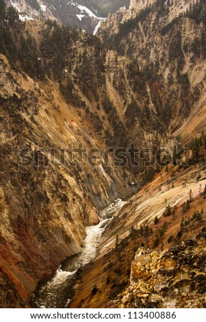 View of the Grand Canyon of the Yellowstone, Yellowstone National Park,Wyoming