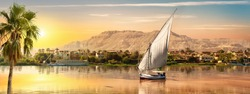View of the Great Nile in Aswan