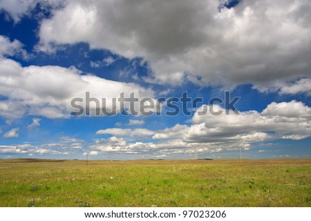 View of the Great Plains in Montana