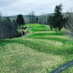 View of the great Serpent Mound.