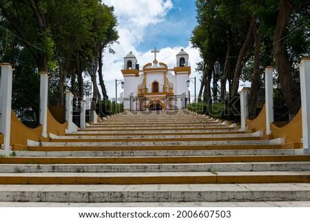 View of the Guadalupe Church (Iglesia de Guadalupe), in the city of San Cristobal de Las Casas, Chiapas, Mexico. Foto stock ©