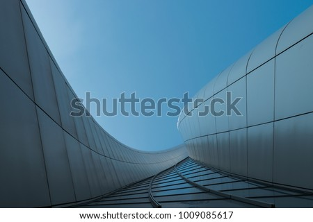 view of the hadid tower from downside, milan, italy