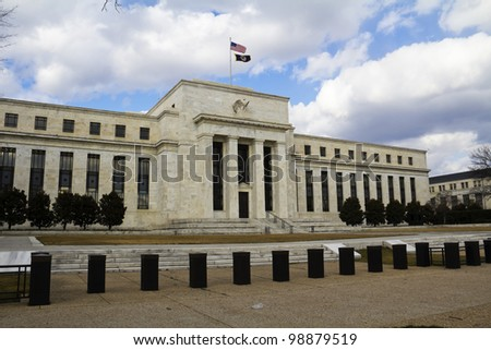 View of the headquarters of the Federal Reserve in Washington, DC, USA
