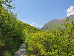 View of the Health Trail in the city of Peja