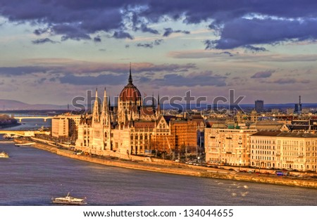 View of the Hungarian Parliament, Budapest, Hungary