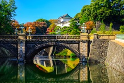 View of the Imperial Palace, Tokyo Japan.