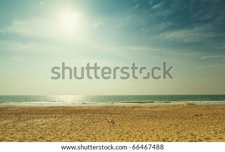 view of the Indian Ocean - stock photo