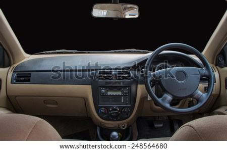 View of the interior of a modern automobile #248564680
