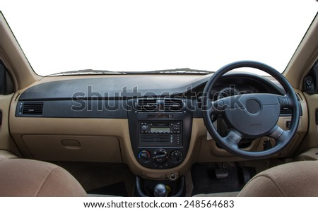 View of the interior of a modern automobile #248564683