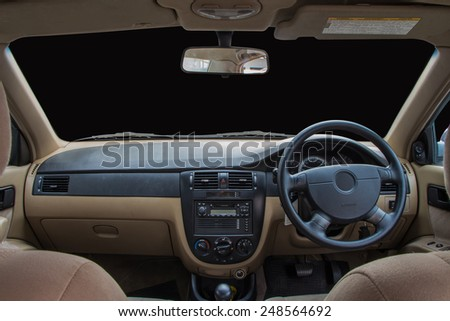 View of the interior of a modern automobile #248564692