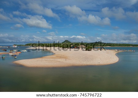 Shutterstock View of the Island of Love (Ilha do Amor) in Alter do Chão - Brazil. An island with freshwater beaches in the middle of the Amazon rainforest
