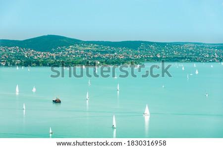 View of the lake Balaton and Balatonfüred, Csopak. Stock photo ©