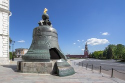 View of the largest bell in the world - the Tsar Bell in Moscow, Russia