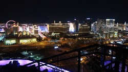 View of the Las Vegas Strip from the High Roller Observation Wheel to CityCenter