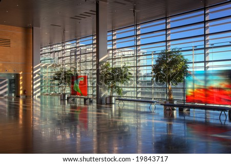 View of the lobby of Arlanda airport, Stockholm.