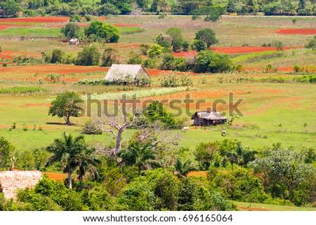 Shutterstock View of the Los Acuaticos, Vinales, Pinar del Rio, Cuba. Copy space for text