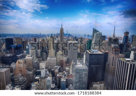 View of the lower Manhattan in New York, USA