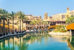 View of the Madinat Jumeirah hotel in Dubai, UAE